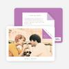 Dog Ear Corners Save the Date Cards - Purple