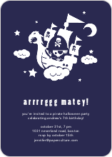 Arrrrggg Matey! Flying Pirate Ship - Deep Blue