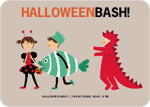 Ladybug, Fish and Alligator Costume Party Invitations - Viridian