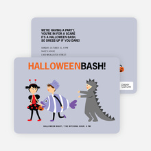Ladybug, Fish and Alligator Costume Party Invitations - Lavender