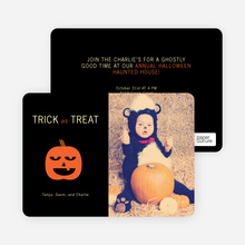 Ladybug Witch Halloween Party Invites - Lava Brown