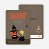 Mad Pumpkin Scientist Halloween Invites - Coffee