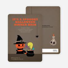 Mad Pumpkin Scientist Halloween Invites - Coffee