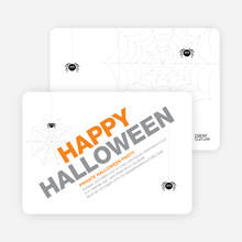Modern Halloween Party Invitations - White