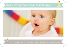Modern Photo Birthday Invitations - Blue