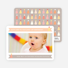 Modern Photo Birthday Invitations - Orange