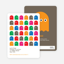 Not so Scary Ghost Halloween Invitations - Multi