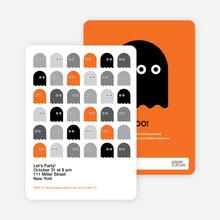 Not so Scary Ghost Halloween Invitations - Orange