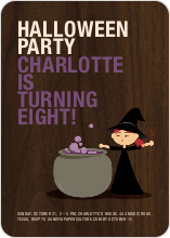 Halloween Photo Party Invitation - Orange Yellow