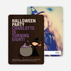 Photo Halloween Party Invitations - Orange Yellow