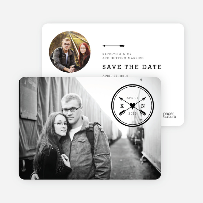 Shot Through the Heart Save the Date Cards - Black