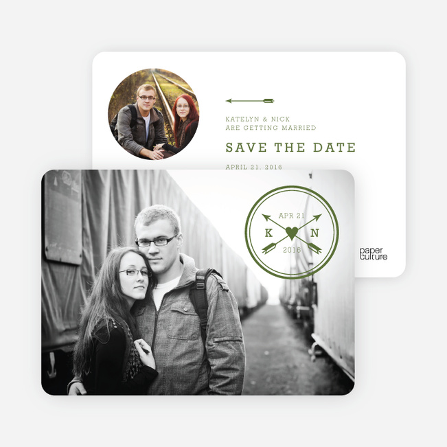 Shot Through the Heart Save the Date Cards - Green