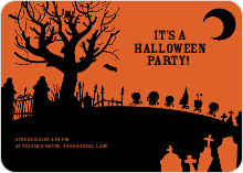Spooky Cemetery Halloween Party - Orange