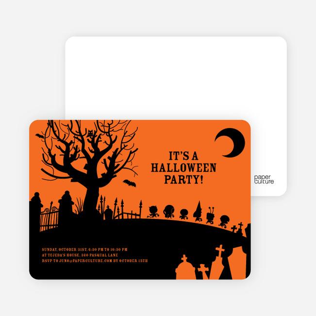 Spooky Cemetery Halloween Party - Orange