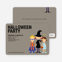 Super Hero, Witch & Angel Halloween Party Invitations - Royal Blue