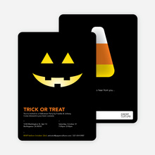 Trick or Treat Pumpkin Face - Yellow