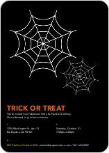 Trick or Treat Spider Webs - White