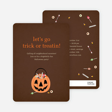 Let's Go Trick or Treatin - Light Taupe