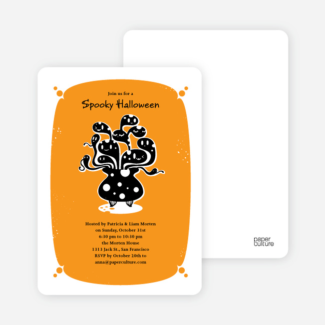 Witches Brewing Halloween Party Invitations - Light Orance
