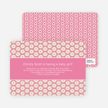 Flower Shower Baby Shower Invitations - Pink
