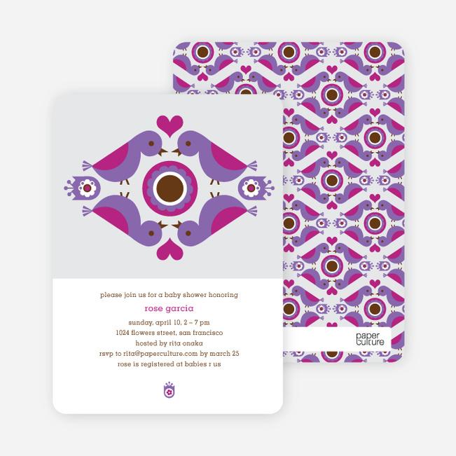 Parental Love Baby Shower Invitation - Grape