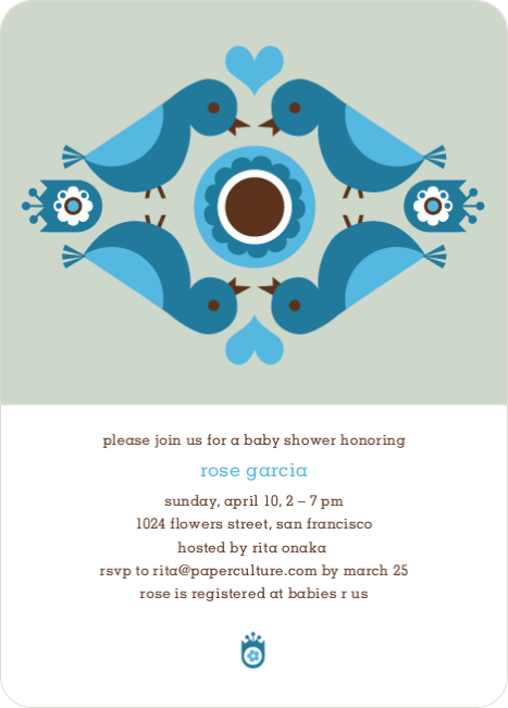 Parental Love Baby Shower Invitation - Steel Blue