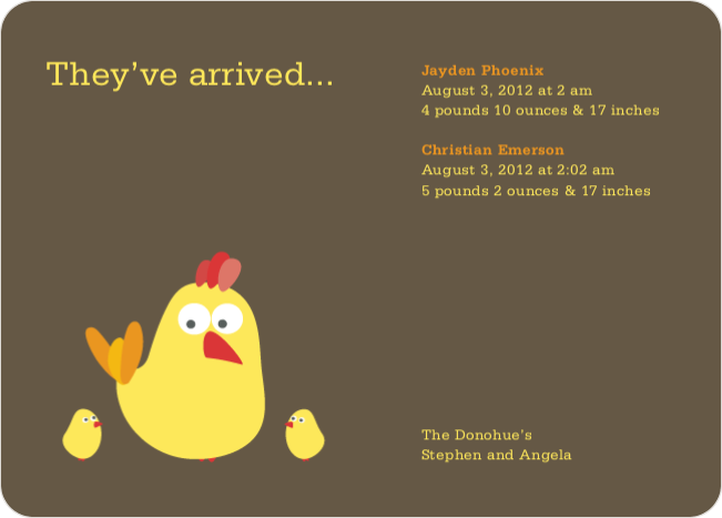 Rooster Family Baby Shower Invitations - Compost