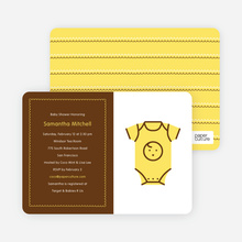 Yellow Onesie Baby Shower Invitation - Lemon Yellow
