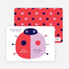 Birth Announcements: Modern Ladybugs - Cherry Red
