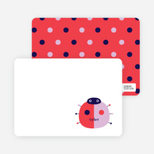 Ladybug Spots: Personal Stationery - Fire Engine