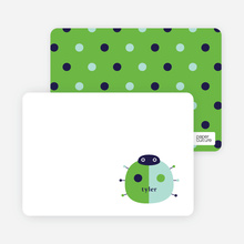 Ladybug Spots: Personal Stationery - Apple Green