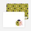 Personal Stationery for Modern Ladybug Baby Announcement - Olive