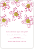 Twin Flowers Baby Shower Invitations - Magenta