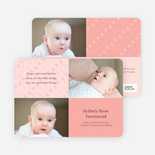 Baby Pin Announcements - Blush