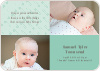 Baby pin Photo Birth Announcements - Aquamarine