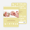 Baby Things 2 Photo Birth Announcements - Banana Bread