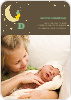 Bird on the Moon Photo Birth Announcements - Green Buggy