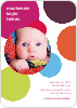 Colorful Circles Baby Announcement - Multi