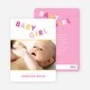 Fun Clothesline Birth Announcements - Blink Pink