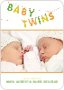 Fun Clothesline Birth Announcements - Precious Green