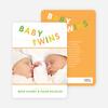Fun Clothesline Birth Announcements - Precious Green