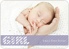Girl Color Stripe Photo Baby Announcements - Purple