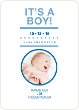 It's a Boy Announcement - Periwinkle