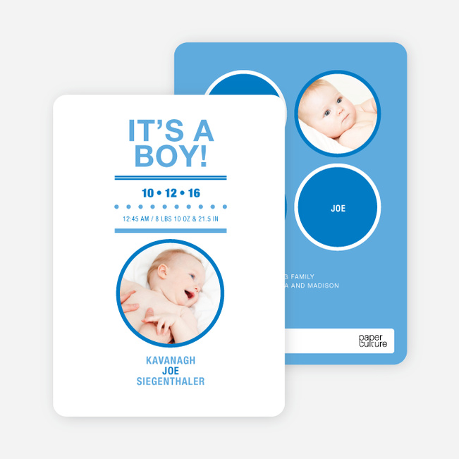 It's a Boy Baby Announcements - Periwinkle