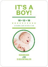 It's a Boy Announcement - Keyline