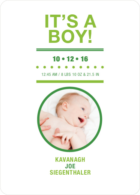 It's a Boy Baby Announcements - Keyline