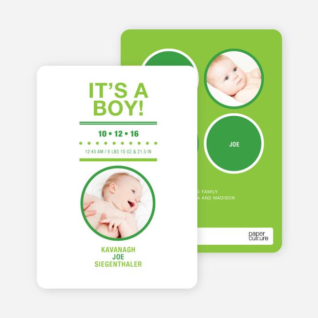 It's a Boy Baby Announcements - Keyline