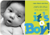 It's a Boy Topsy Turvy Birth Announcements - Cornflower
