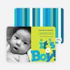 It's a Boy Topsy Turvy Birth Announcements - Cornflower