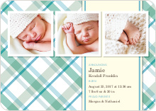 Mad Plaid Multi Photo Announcements - Aquamarine